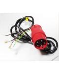 Vidlice 16A 5-kolík + kabel 4-žílový..
