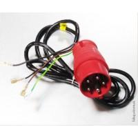 Vidlice 16A 5-kolík + kabel 4-žílový z konektory v délce 1m 90 cm